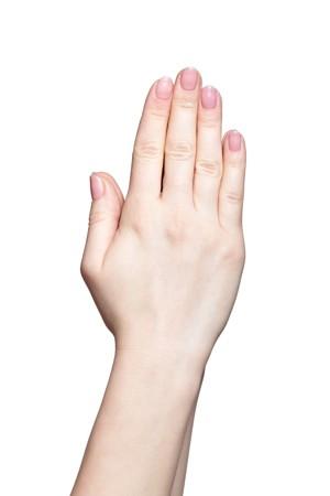 pinke naegel hand